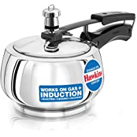 HAWKINS Contura Stainless Steel Pressure Cooker For Induction, Gas And Electric Stoves (1.5 Liter), silver (SSC15)