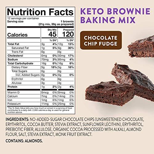 HighKey Keto Brownie Dessert Mix - Chocolate Low Carb Snacks Gluten Free Brownies Zero Sugar Snack Foods & Healthy Baking Mixes for Diabetic Diet Fudge Sweets Food Paleo Friendly Treats Desserts