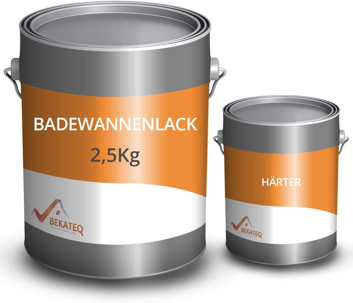 Bekateq 2k Badewannenlack Ls 410 Grundierung Und Decklack Ral9010 Weiss 2 5kg Baumarkt