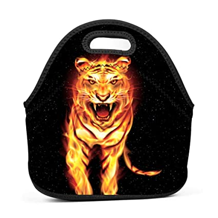 f492f5916d86 Amazon.com: Fire Tiger Fashionable 3D Printing Neoprene Lunch Bag ...