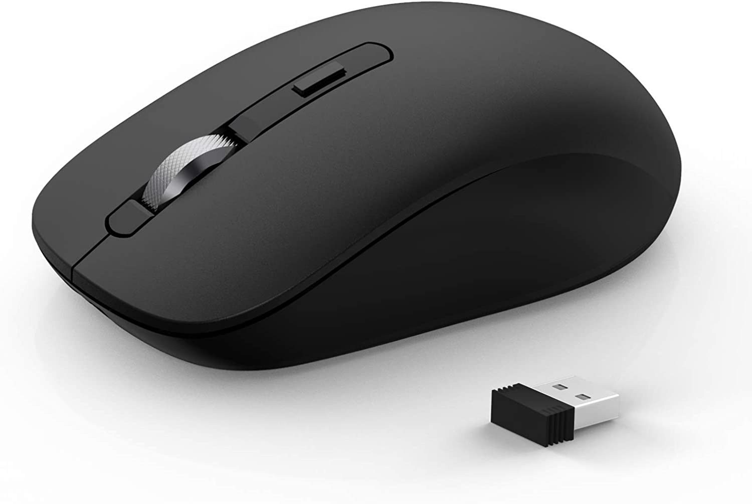 Bluetooth Mouse, JOYACCESS 2.4G Wireless Bluetooth Mouse Dual Mode(Bluetooth 5.0/3.0+USB), Computer Mice for Laptop/ Computer MacBook/ Windows/ MacOS/ Android - Black