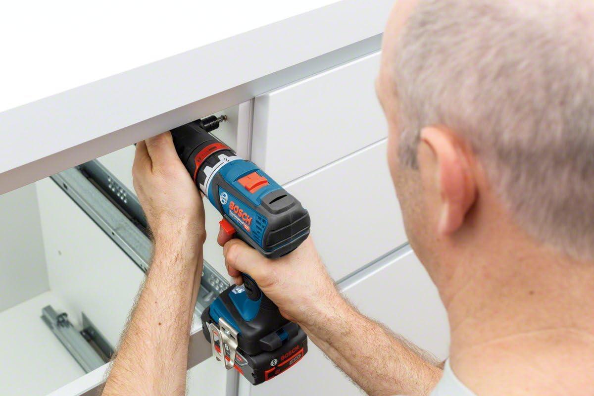 Atornillador a bater/ía Bosch Professional GSR 18V-60 FC 2 bater/ías x 5.0 Ah, 18V, 60 Nm, FlexiClick, 1 adaptador, en L-BOXX