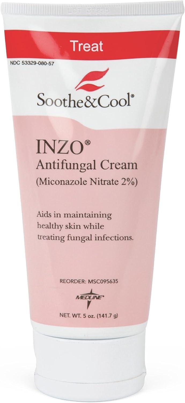 Medline MSC095635H Soothe & Cool INZO Antifungal Cream, White