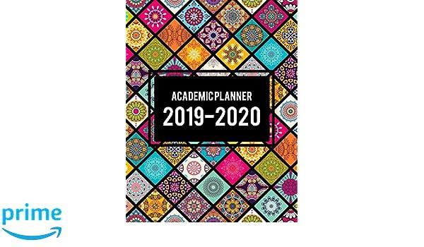 Academic Planner 2019-2020: Beauty Art Book, 8.5
