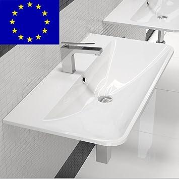 Design Waschtisch Waschbecken 90cm Zur Wandmontage Material