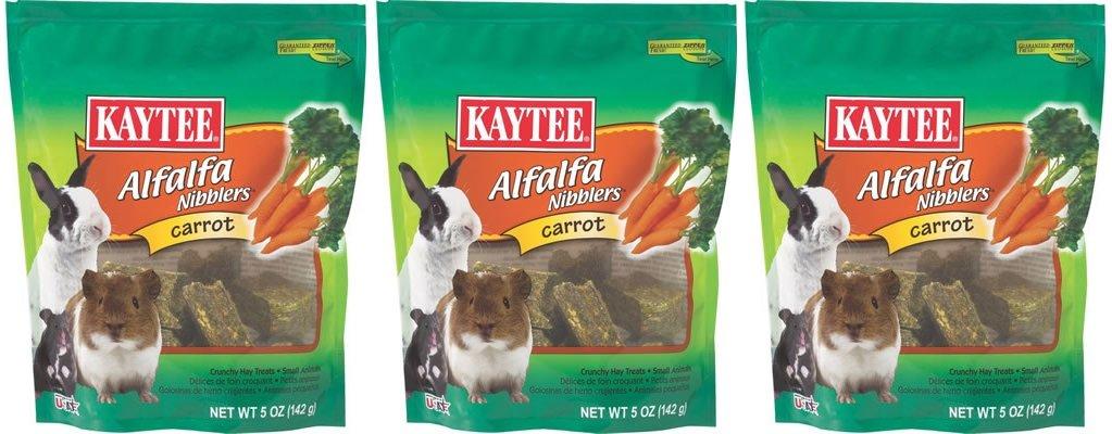 (3 Pack) Kaytee Nibblers Carrot Small Animal Treats, 5 Ounces Per Pack