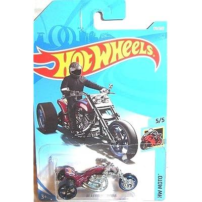 Hot Wheels 2020 50th Anniversary HW Moto Blastous Moto (Motorcycle) 179/365, Maroon: Toys & Games