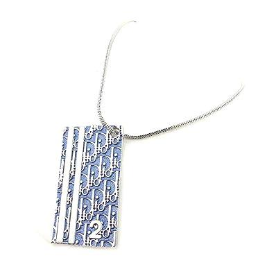 cc4d2f2701 (ディオール) Christian Dior ネックレス アクセサリー ホワイト 白ブルー シルバー トロッター レディース メンズ 可 中古