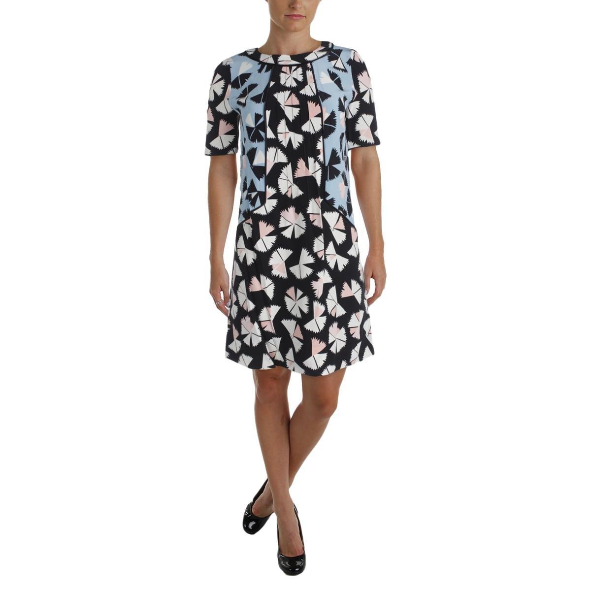 Marc by Marc Jacobs Women's Pinwheel Flower Dress, Black Multi, 6