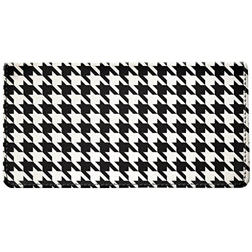 Snaptotes Houndstooth Black White Design Checkbook Cover