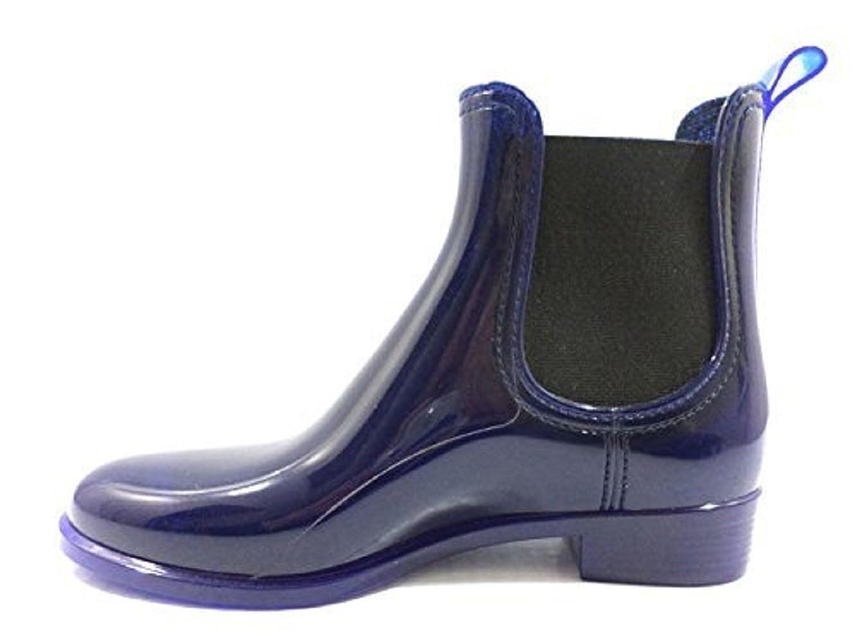 JEFFREY CAMPBELL 39 Stiefeletten Damen Blau Gummi KY479: Amazon.de: Schuhe  & Handtaschen