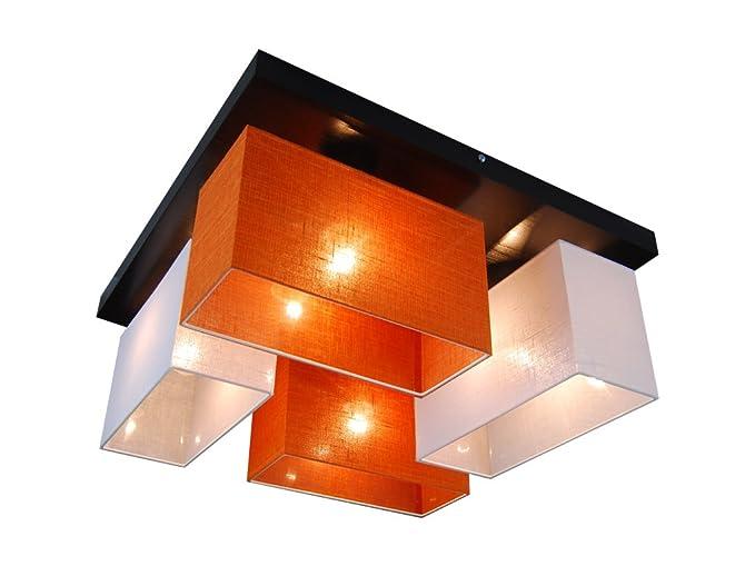 Plafoniere Per Tetto In Legno : Plafoniera illuminazione a soffitto in legno massiccio jls45weord