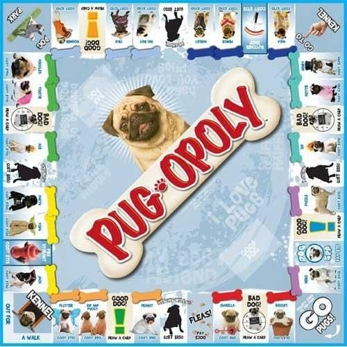 (Pug-opoly Game Family Board Fleas Rent Token Buy Toys Bones Kennel Kids Gift .HN#GG_634T6344 G134548TY71058)