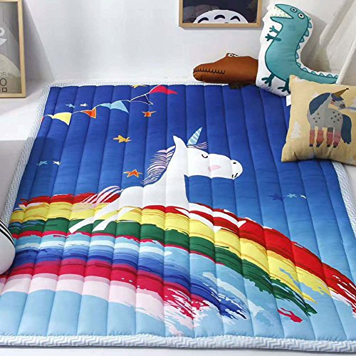 Cusphorn Non-slip Nursery Rugs Children Play Mat White Horse Ultra Soft Cotton Kid's Bedroom Decor (Rug White Nursery For)