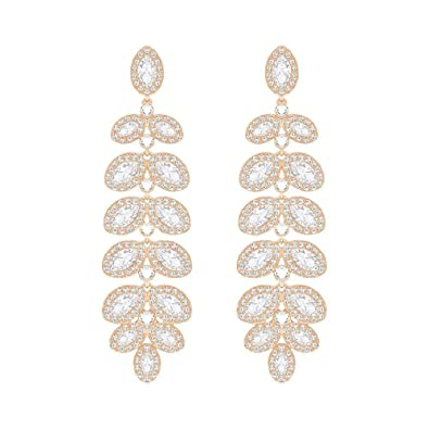 Swarovski Crystal Baron Rose Gold-Plated Earrings