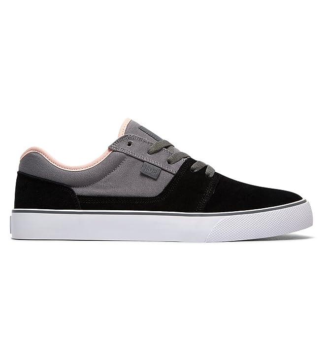 DC Shoes Tonik Sneakers Skateboardschuhe Herren Damen Unisex Erwachsene Grau/Schwarz/Rosa