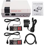 Mitsutomi& Mini Retro Classic Games Consoles Video Game Dual Control NES TV Player with Built-in 600+ Games (White)