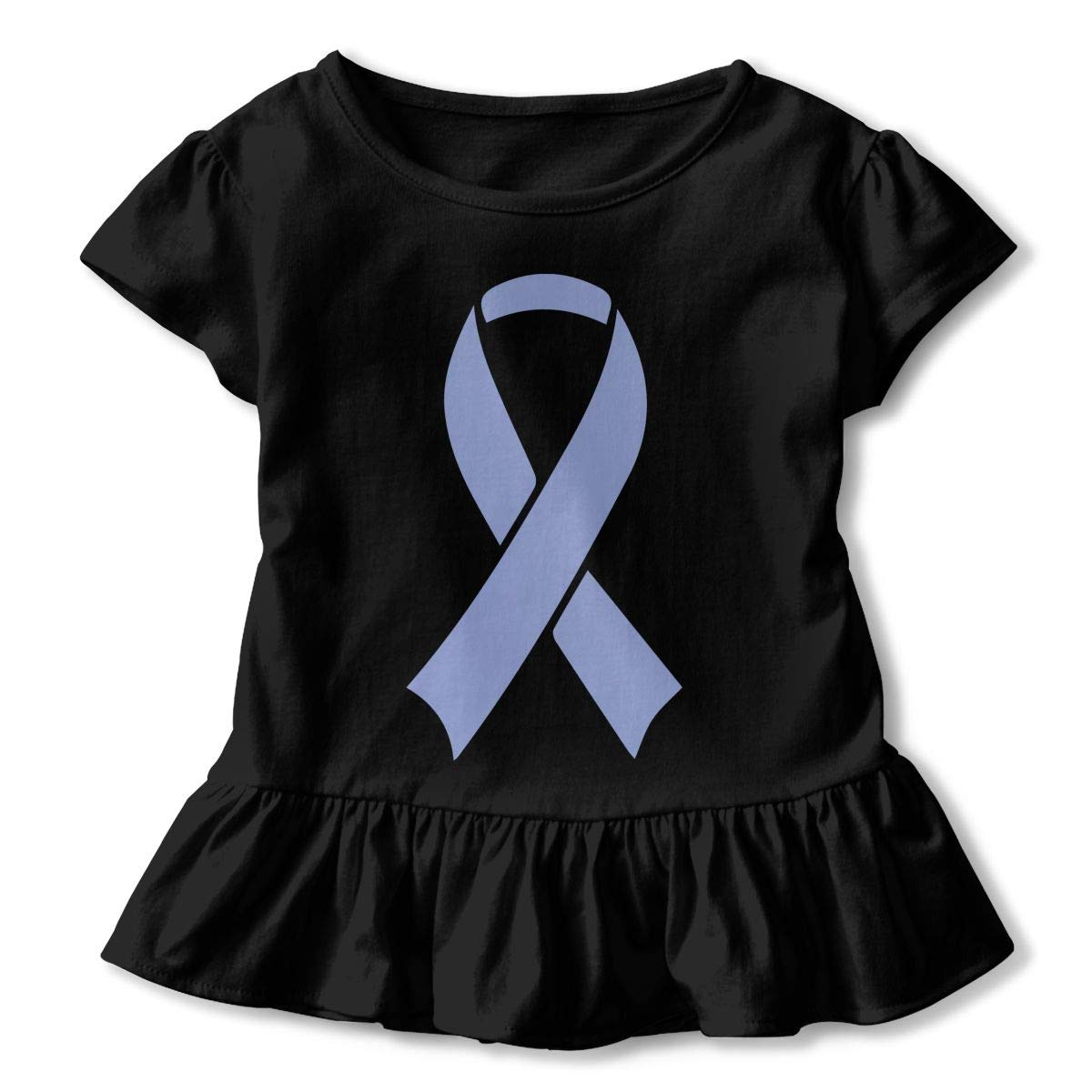 SHIRT1-KIDS I Stand with Israel T-Shirts Toddler//Infant Girls Short Sleeve Ruffles Shirt Tee for 2-6T