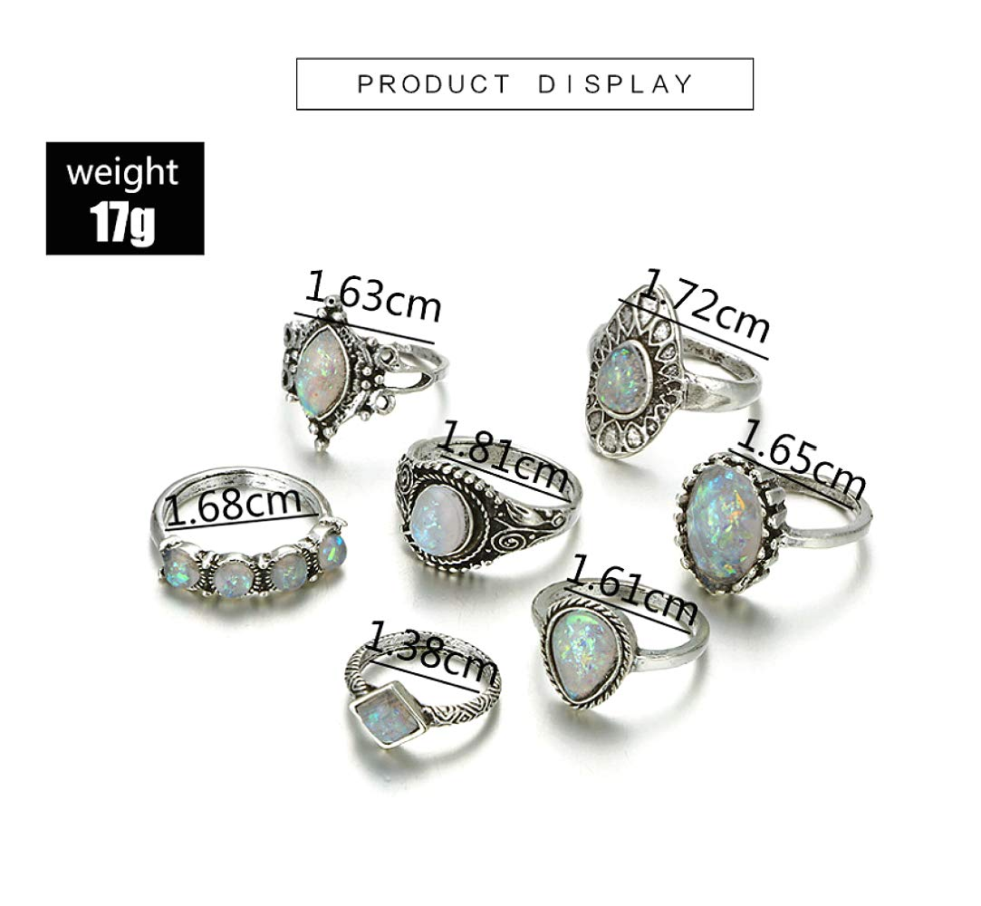 style2 Cathercing 16 Pcs Women Rings Set Knuckle Rings Gold Bohemian Rings for Girls Vintage Gem Crystal Rings Joint Knot Ring Sets for Teens Party Daily Fesvital Jewelry Gift