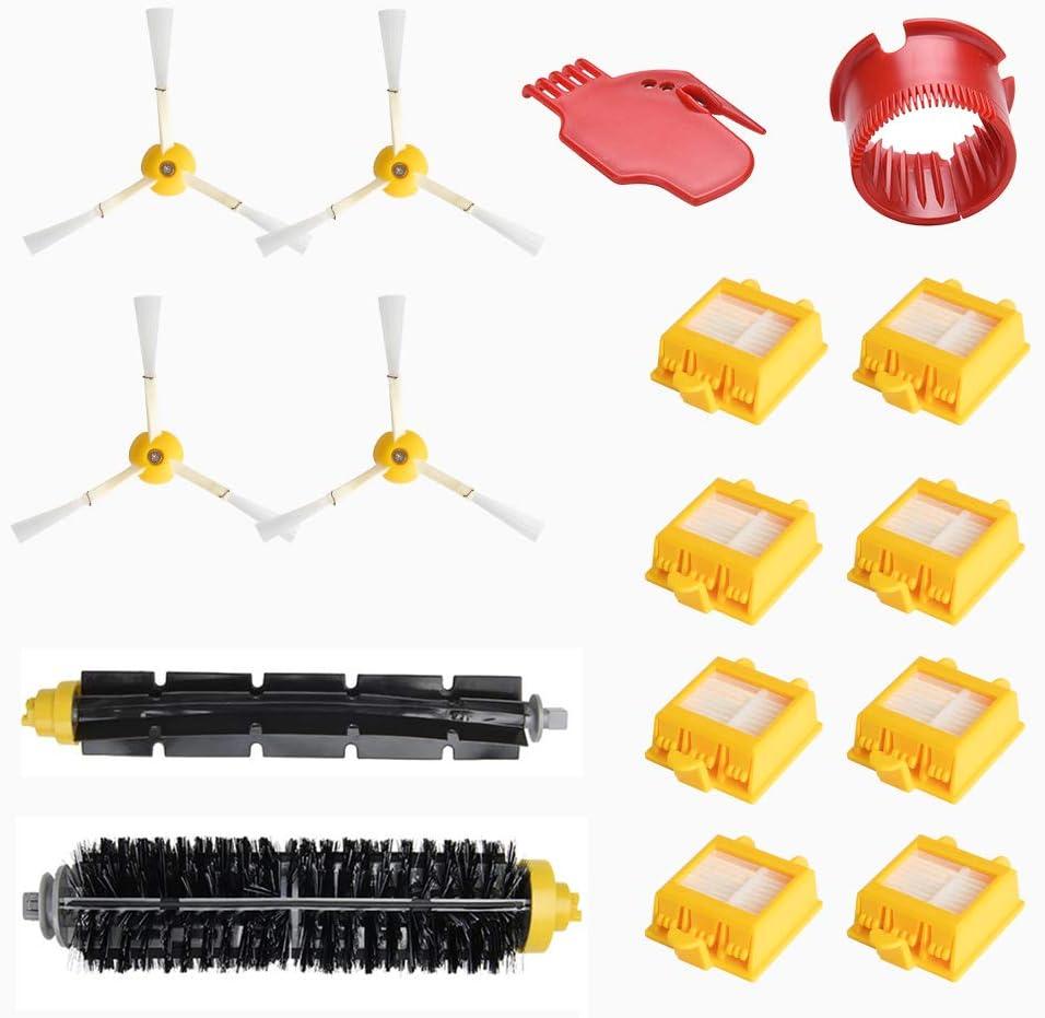 WEYO - Kit de accesorios de repuesto para aspirador iRobot Roomba 700 760 770 772 774 775 776 780 782 785 786 790 cepillo filtro de repuesto para aspirador robot filtros HEPA + cepillos laterales: Amazon.es: Hogar