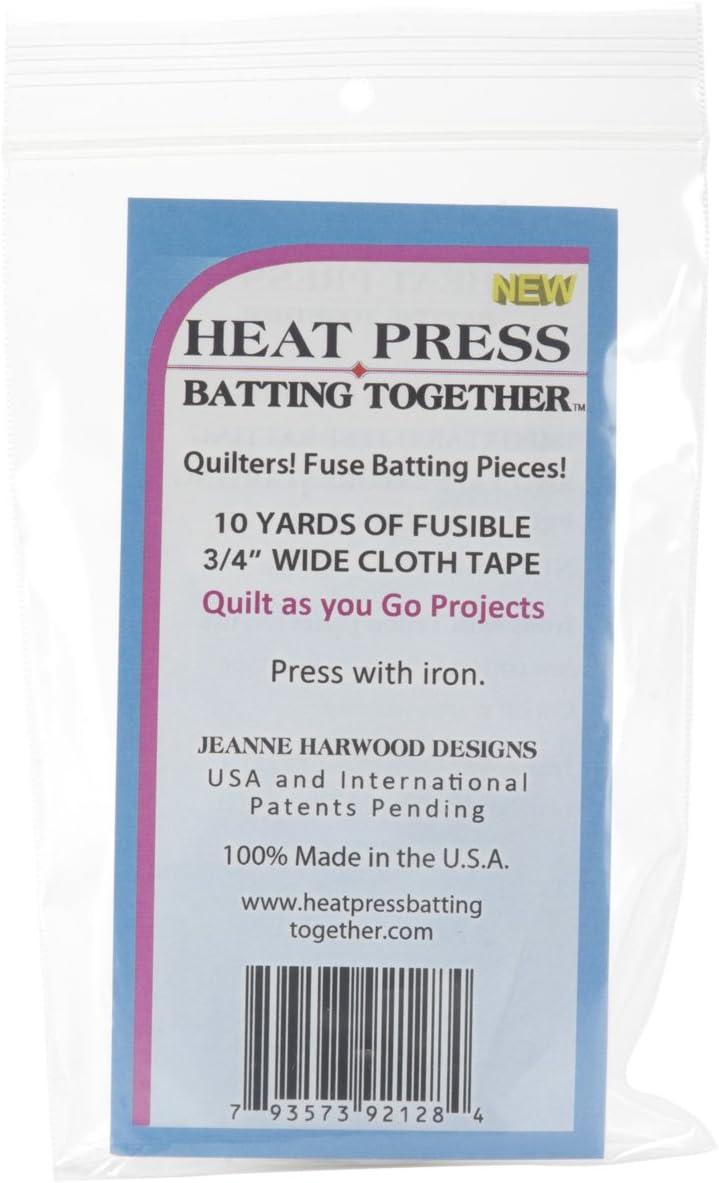 Deco Art Heat Press Batting Together Printing Presses 1-1//2-Inch by 15-Yard White