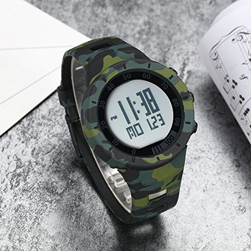 New Camouflage Cool Outdoor Sport Children's Watch Led Light Comfortable Rubber Band Multifunctional Trendy Hot Rugged by autulet (Image #2)