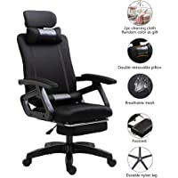 Office Computer Desk Mesh Chair Ergonomic Swivel Lift Executive Black with Footrest Removable Neck and Lumbar Support…