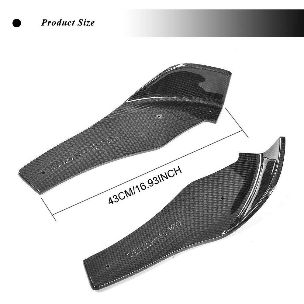 JC SPORTLINE fits BMW 3 Series F80 M3 4 Series F82 F83 M4 2014-2018 Carbon Fiber Front Bumper Splitters Lip Spoiler