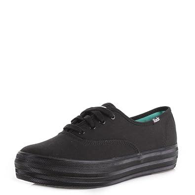 a5792eb6a9f Womens Keds Champion Triple Black   Black Flatform Lace Up Casual Shoes  SIZE 8  Amazon.co.uk  Shoes   Bags