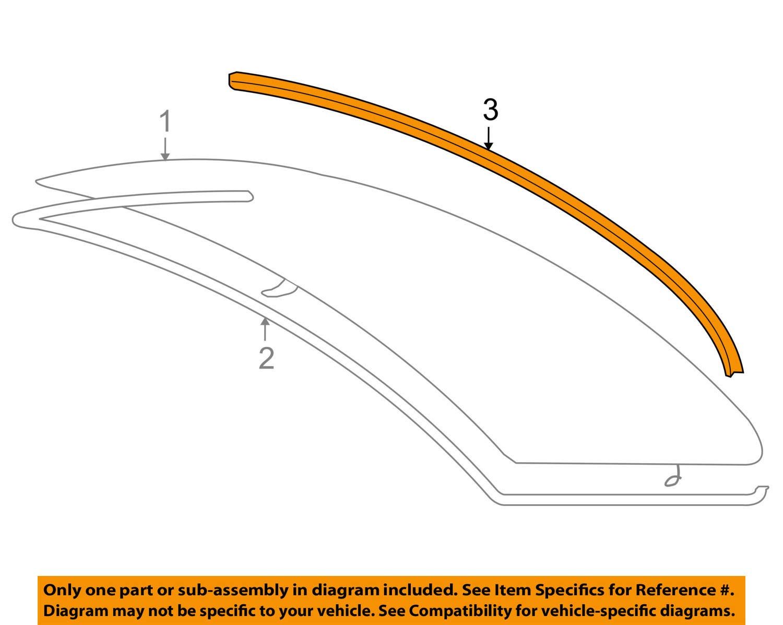 Lower 51 31 7 138 664 Window Molding BMW Rear
