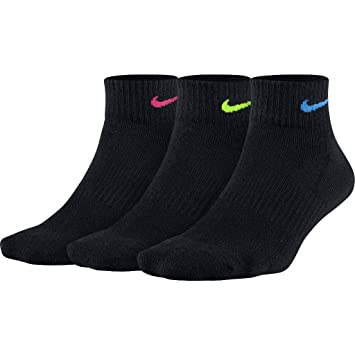 Nike Everyday Calcetines, Mujer, Negro, 38-42 EU (Talla del fabricante