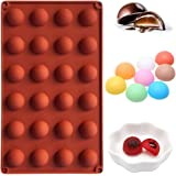 """PERNY Round Mold, Silicone Chocolate Candy Molds (24 Semi Sphere, 1"""")"""