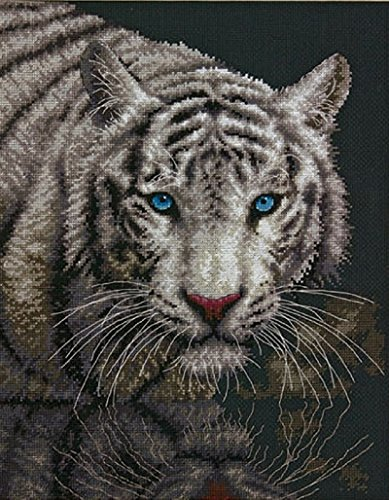 Dimensions Crafts NeedleCrafts Counted Cross Stitch, Into The Light Cross Stitch Kit Tiger