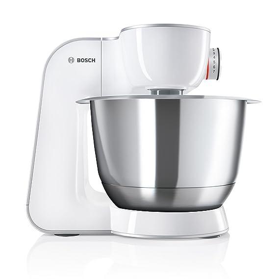 Bosch MUM5 MUM58W56DE CreationLine Küchenmaschine (1000 W, 2 Rührwerkzeuge Edelstahl, Flexirührbesen, spülmaschinenfest, 3,9