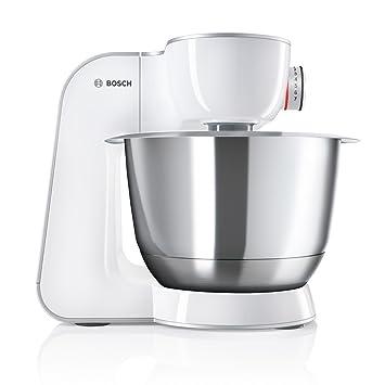Bosch MUM58W56DE CreationLine Küchenmaschine, Spülmaschinenfest, 3,9 Liter,  Durchlaufschnitzler 4 Scheiben, 1000 W, weiß