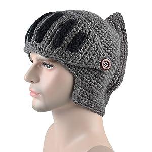 冬の暖かく、防風バイザー、ローマのニット帽、ローマの騎士,darkgray