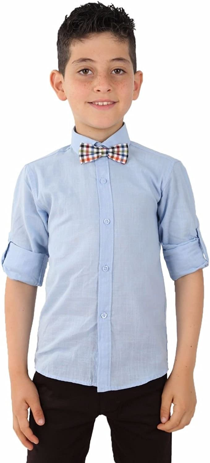 Boys White Linen Shirts Boy White Linen Shirt Kids Linen Roll Up Sleeve Shirts