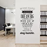 ufengke Citas Motivadoras de Work Hard Pegatinas de Pared Palabras de Letras Inspiradoras Decorativo Extraíble DIY…