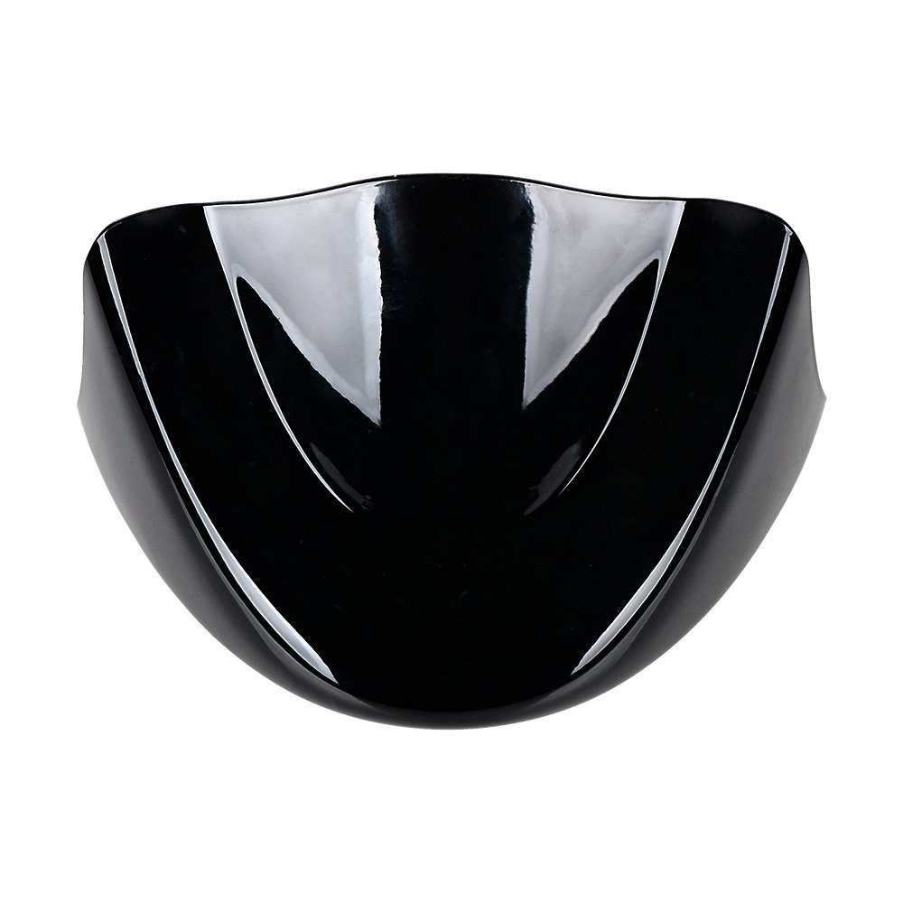 Glossy Black Lower Front Chin Spoiler Air Dam Fairing Windshield Mudguard Cover with Metal Bracket Compatible with 2006-17 Harley Dyna