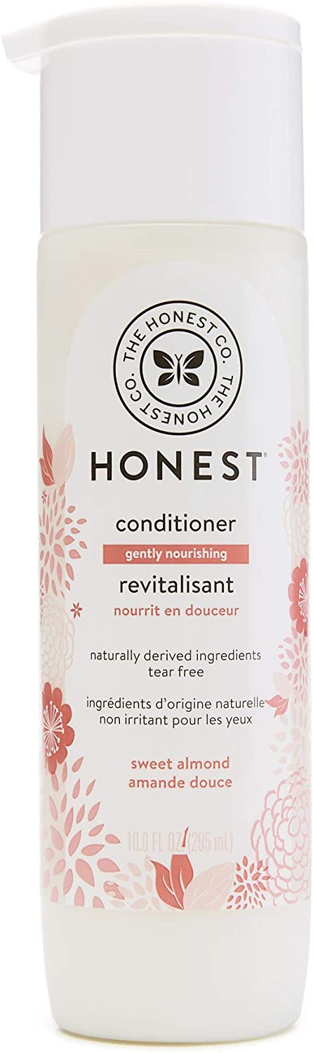 The Honest Company Gently Nourishing Sweet Almond Conditioner | Hypoallergenic | Gentle for Babies | Tear Free | Paraben Free | Jojoba & Almond Oils | 10 Fluid Ounces