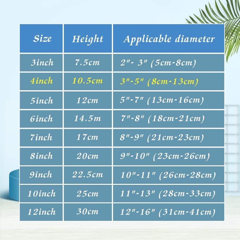 """bn 8 cm - 15 cm 6/"""" Bonne qualité plaque en plastique transparent Stand // Chevalet-petits 3 /"""""""