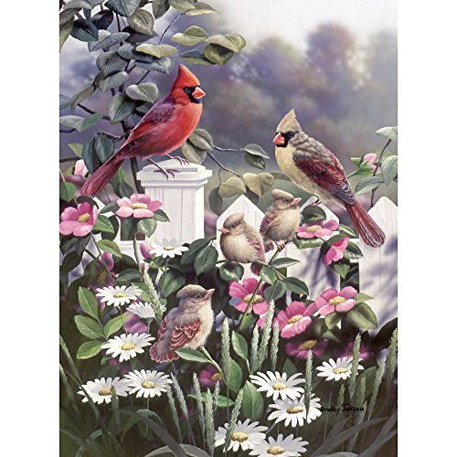 Cardinals Puzzle 500 Piece - Bits and Pieces - 500 Piece Jigsaw Puzzle -Cardinals and Babies - Beautiful Birds - by Artist Bradley Jackson - 500 pc Jigsaw