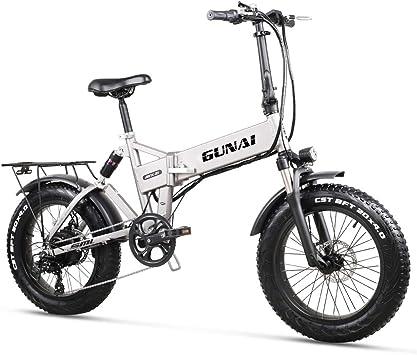 Bicicleta Eléctrica 500W 20 Pulgadas 48V 12.8Ah Neumático Gordo ...