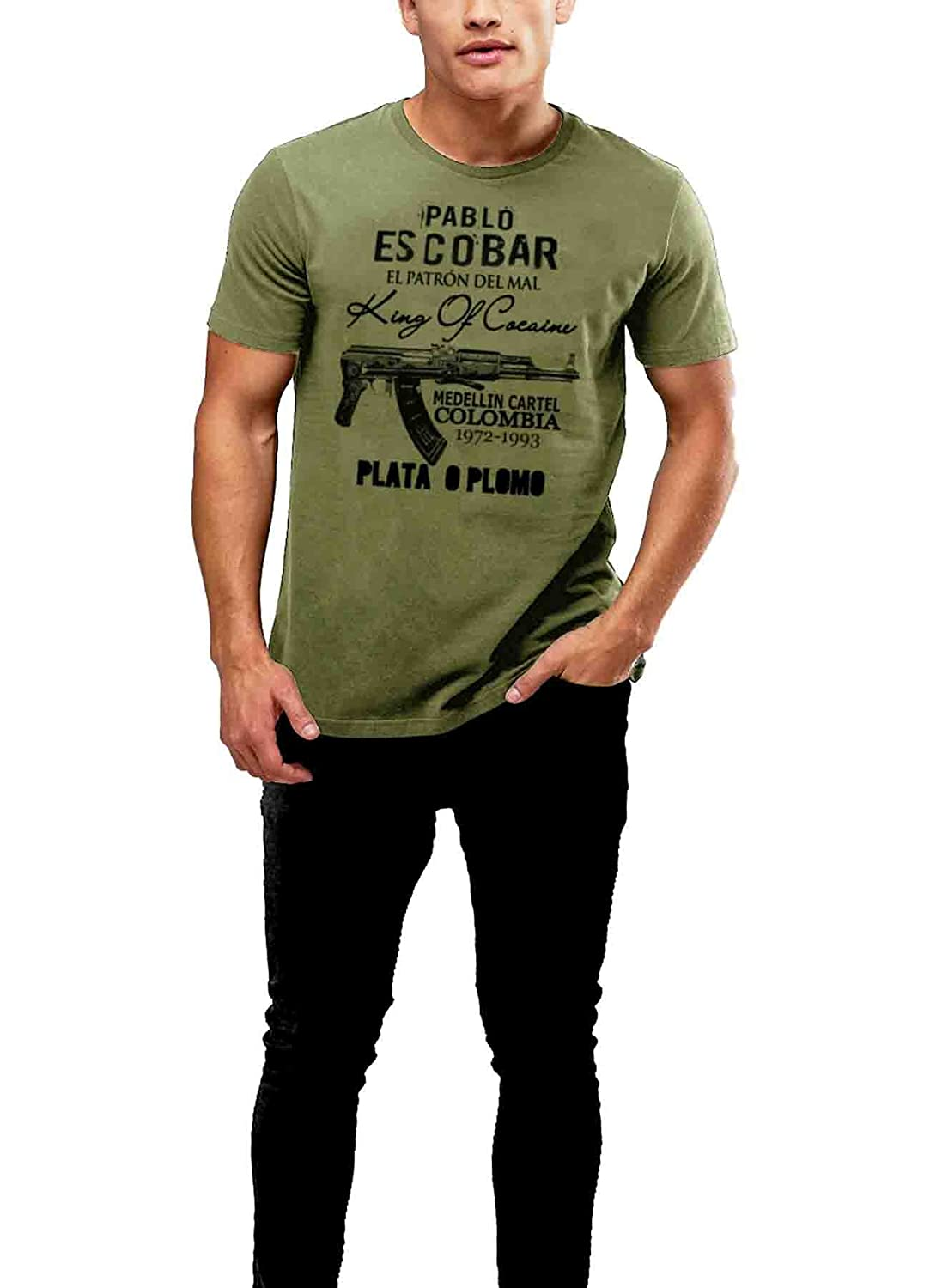 Rancid Nation Pablo Escobar T-Shirt Medellin Cartel Plato O ...