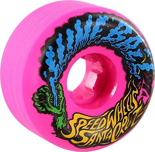 (Santa Cruz Skateboards Slimeballs Vomits Mini Neon Pink Skateboard Wheels - 56mm 97a (Set of 4))