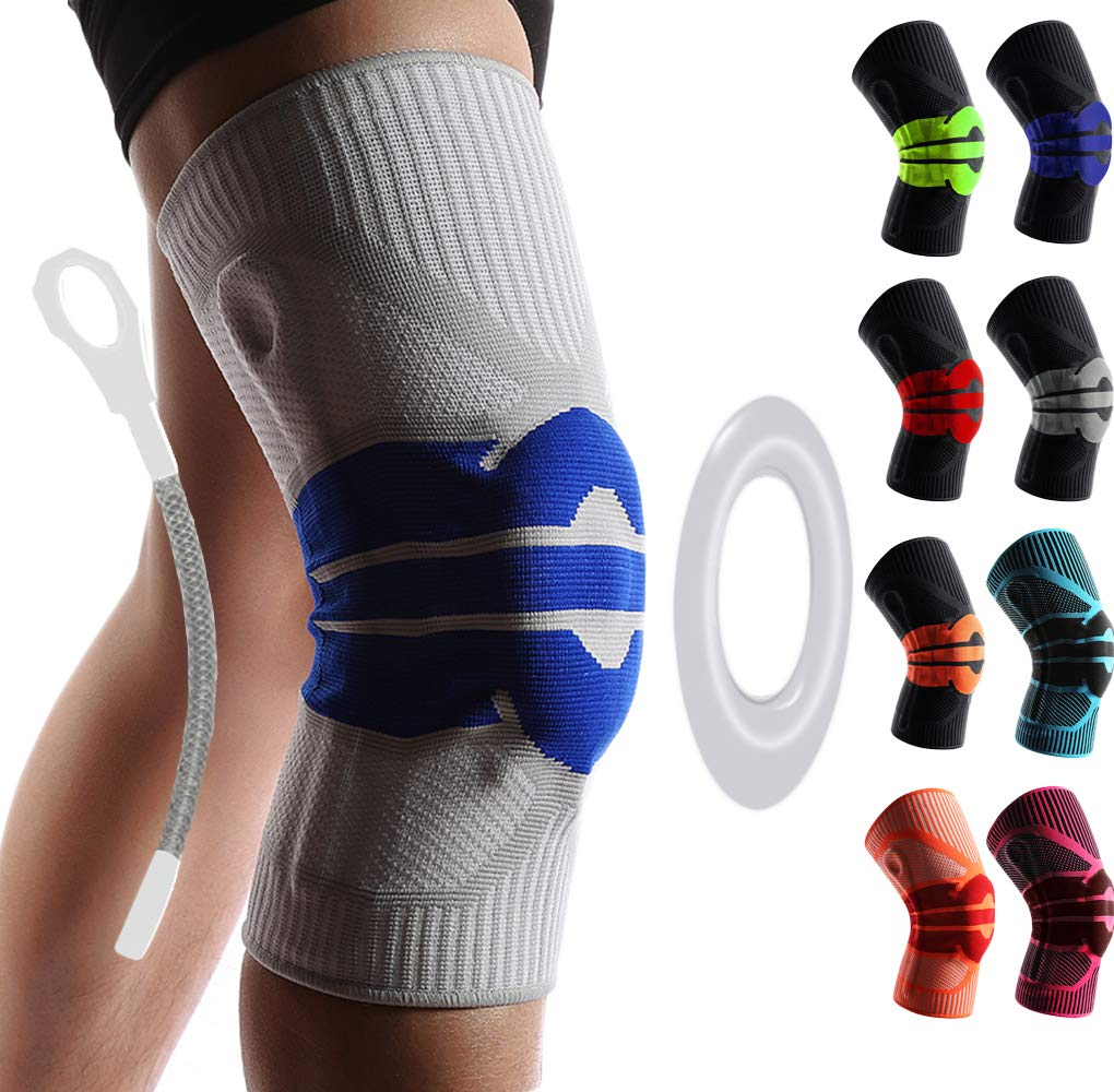 DEIQI Knee Support Leg Arthritis Injury Gym Sleeve Elasticated Bandage Pad Charcoal Knitted Elbow Knee Pads 2 pc