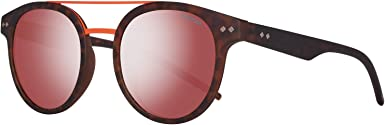 Polaroid PLD 6031/S OZ N9P Gafas de Sol, Marrón (Matt Havana/Red Grey Speckled Pz), 49 Unisex-Adulto