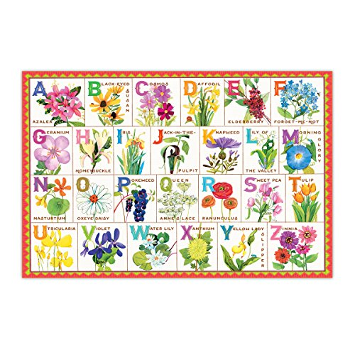 eeBoo Flower Alphabet Puzzle for Kids, 100 Pieces