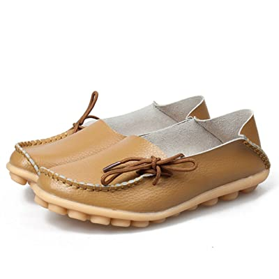Women's Leather Casual Loafer Shoes