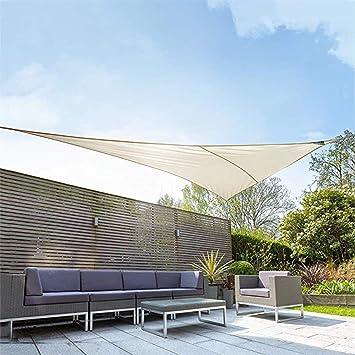 TUONAZDZ Duradero Triángulo Toldo Toldo Protector Solar UV 95 ...